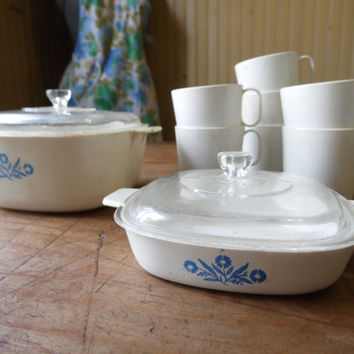FREE SHIPPING - Children's Dishes/Plastic Dishes/Play Dishes/Vintage Children's Dishes/Corningware Dishes