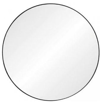 Black Nickel Round Mirror