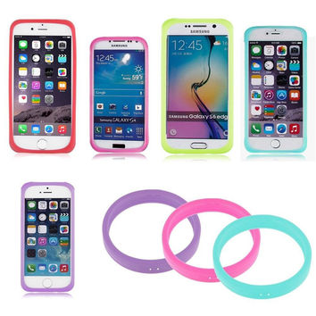 Universal Luminous Glow In The Dark Silicone Bracelet Phone Cover Bumper Case X1