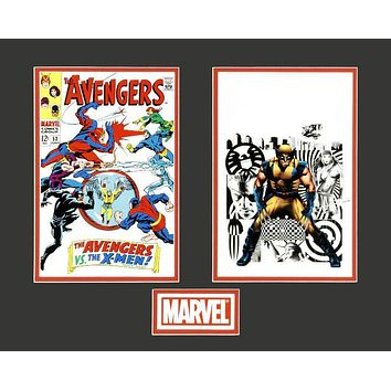The Avengers/Wolverine - Limited Edition Lithocel Diptych from the Marvel Collector Covers Series