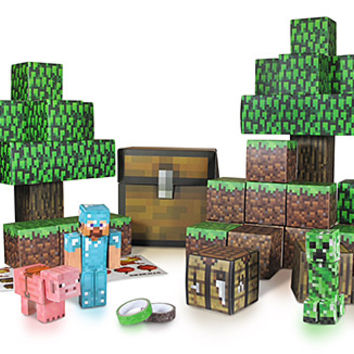 Minecraft Papercraft Sets - Minecart Set
