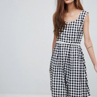 Yumi Belted Gingham Dress at asos.com