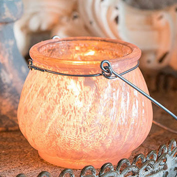 Vintage Blush Tea Light Lanterns (Set of 6)