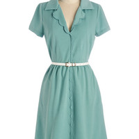 Myrtlewood Vintage Inspired Long Short Sleeves Shirt Dress