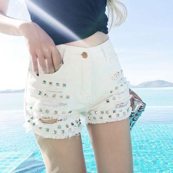 ESBONX5H Sexy High Waist Denim Shorts