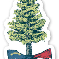 Land O' the Pines Sticker – Lauren James Co.
