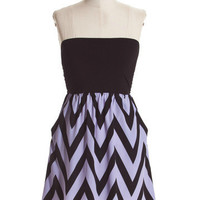 SOUTHERN CHARM Lilac Purple Black Chevron Strapless Dress Shop Simply Me – Simply Me Boutique