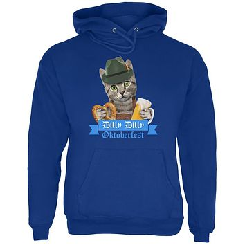 Dilly Dilly Oktoberfest Funny Cat Mens Hoodie