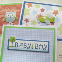 Baby Boy Cards Set I, A2 Size, Card Set of 3