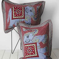 Magical Thinking Grey Elephant Stamp Sham Set
