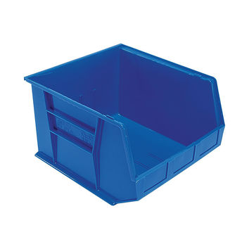 Quantum Storage Systems Ultra Stack And Hang Bin 18Lx 16-1/2Wx 11H - Blue Pack Of 3
