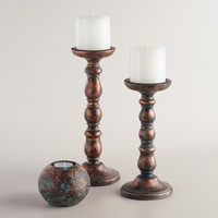 Copper and Blue Stella Candleholder