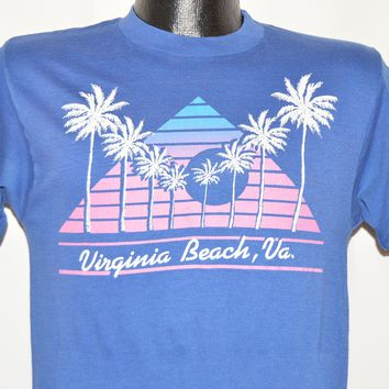 80s Virginia Beach Neon Pyramid Sunset t-shirt Small