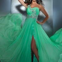 Mac Duggal 64412M Key Lime Dress