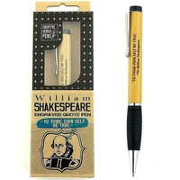 "WILLIAM SHAKESPEARE ENGRAVED QUOTE PEN - ""To Thine Own Self be True."" - Best Unique Creative Gifts Ideas for Writers Teachers Authors Book Editors Librarians Actors Directors Poets Poetry Gifts"