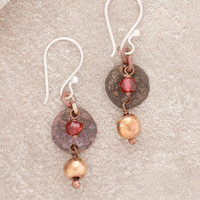 Kathmandu Copper Coin Earrings
