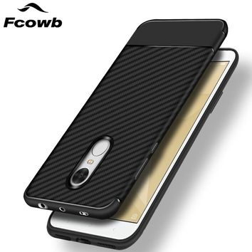 FCOWB Case For Xiaomi Redmi Note 4X Case Xiaomi Redmi Note 4 Mobile Phone Carbon Fiber TPU Soft Silicon Back Cover Case