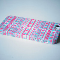Sweet Pink Aztec Geometric Tribal iPhone Case Cover, iPhone 5s Case , iPhone 5 , iPhone 5c Case ,iPhone 4 ,iPhone 4s ,Samsung Galaxy S4 Case
