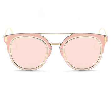 Polycarbonate And Metal Frame Mirrored Sunglass