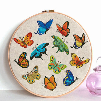 Butterfly cross stitch pattern pdf  Instant Digital Download