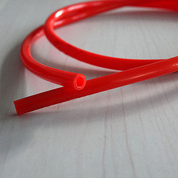"""Durable Motorcycle Fuel Line Red 7mm 30"""" Gas Hose Tube For Honda XR50 CRF50 USLS"""
