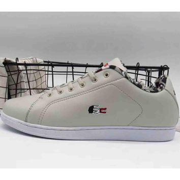 Lacoste 2018 new men and women sports trend leisure shoes F-A36H-MY grey
