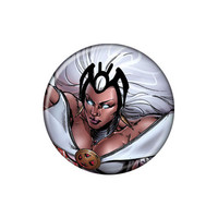 X-Men Storm White Hair Button