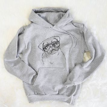 Otis the Pug - Mens Hooded Sweatshirt