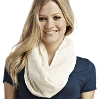 Floral Crochet Infinity Scarf   Wet Seal