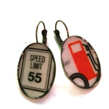 Retro road trip earrings