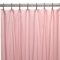 Royal Bath Heavy 4 Gauge Vinyl Shower Curtain Liner w/ Weighted Magnets - Pink