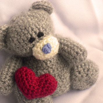 Teddy Bear with Heart Amigurumi Kawaii CROCHET PATTERN No.43