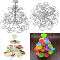 4 Tier 23 Cupcake Wedding Birthdays Party Stand Cup Cake Holder Table Decoration = 1932893380
