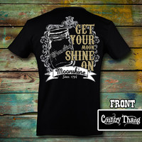 Simply Southern Country Thang Moonshine T-Shirt on Black
