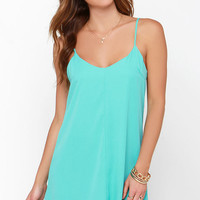 Goody Gumdrops Turquoise Slip Dress