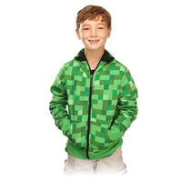 New arrival Retail Hoodie minecraft Creeper Coat jacket US youth size for kids & boys best great quality