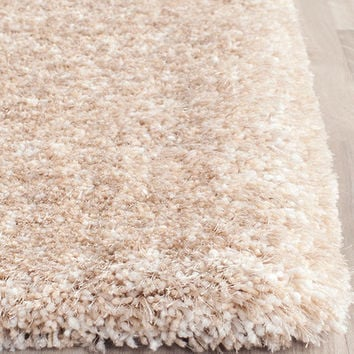 Safavieh South Beach Champagne Shag Area Rug & Reviews | Wayfair