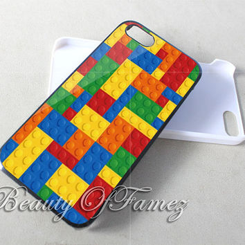 Lego Blocks for iPhone 4, iPhone 4s, iPhone 5, iPhone 5s, iPhone 5c Samsung Galaxy S3, Samsung Galaxy S4 Case