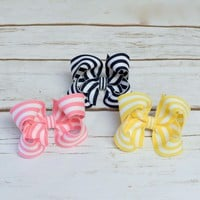 Girls hair bows, baby bows. Shop hairbows in many sizes, colors and styles at Your Final Touch
