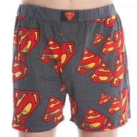 Superman Logo All Over Print Mens Boxers