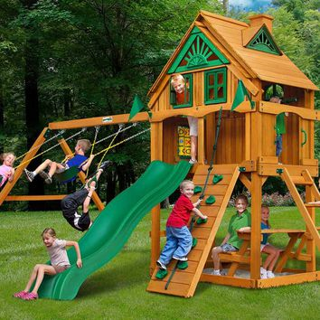 Gorilla Playsets Mountain Ridge Wooden Swing Set