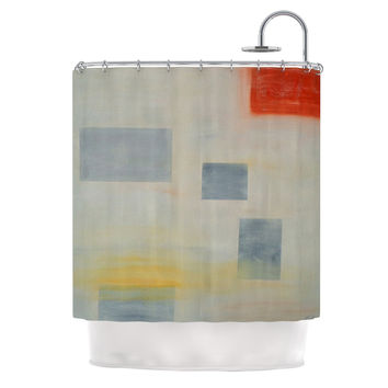 "Cathy Rodgers ""Map To Childhood"" Gray Blue Shower Curtain"