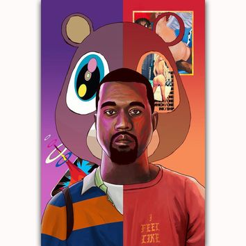 MQ236 Kanye West Yezzy USA Grammy Rap Music Cover Album Paws Hot Art Poster Top Silk Light Canvas Home Decor Wall Picture Print