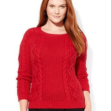 Lauren Ralph Lauren Plus Aran Knit Sweater