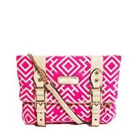 River Island Aztec Print Buckle Front Cross Body Bag at asos.com