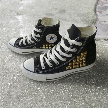studded high top converses