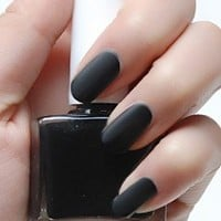 Black Matte Nail Polish - Beatnik Black - Modicure - Manicure Nail Wraps and Nail Foils