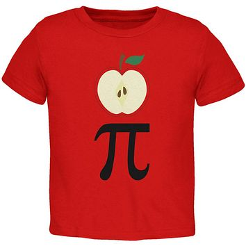 Halloween Math Pi Costume Apple Day Toddler T Shirt
