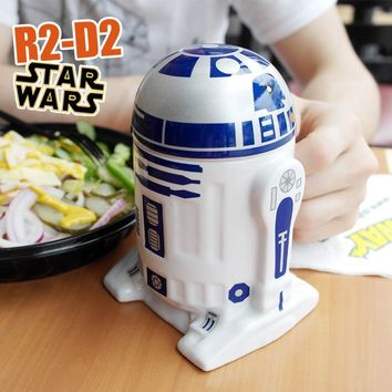 Star Wars Force Episode 1 2 3 4 5 1 PCS Creative  R2-D2 Robot Ceramic Mug Personality Coffee Cup Porcelain Tea Cup Zakka Tumbler for Children Friend Gift AT_72_6