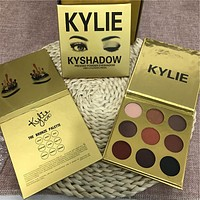 (New Kylie Valentine's)KYLIE Gold Golden 9 colors Eye Shadow [9168431492]